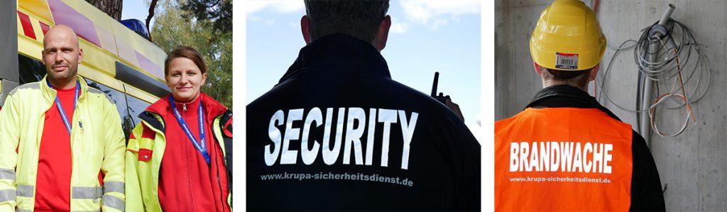 Krupa Sicherheitsdienst – Sanitäter, Sicherheitsdienst und Brandwache