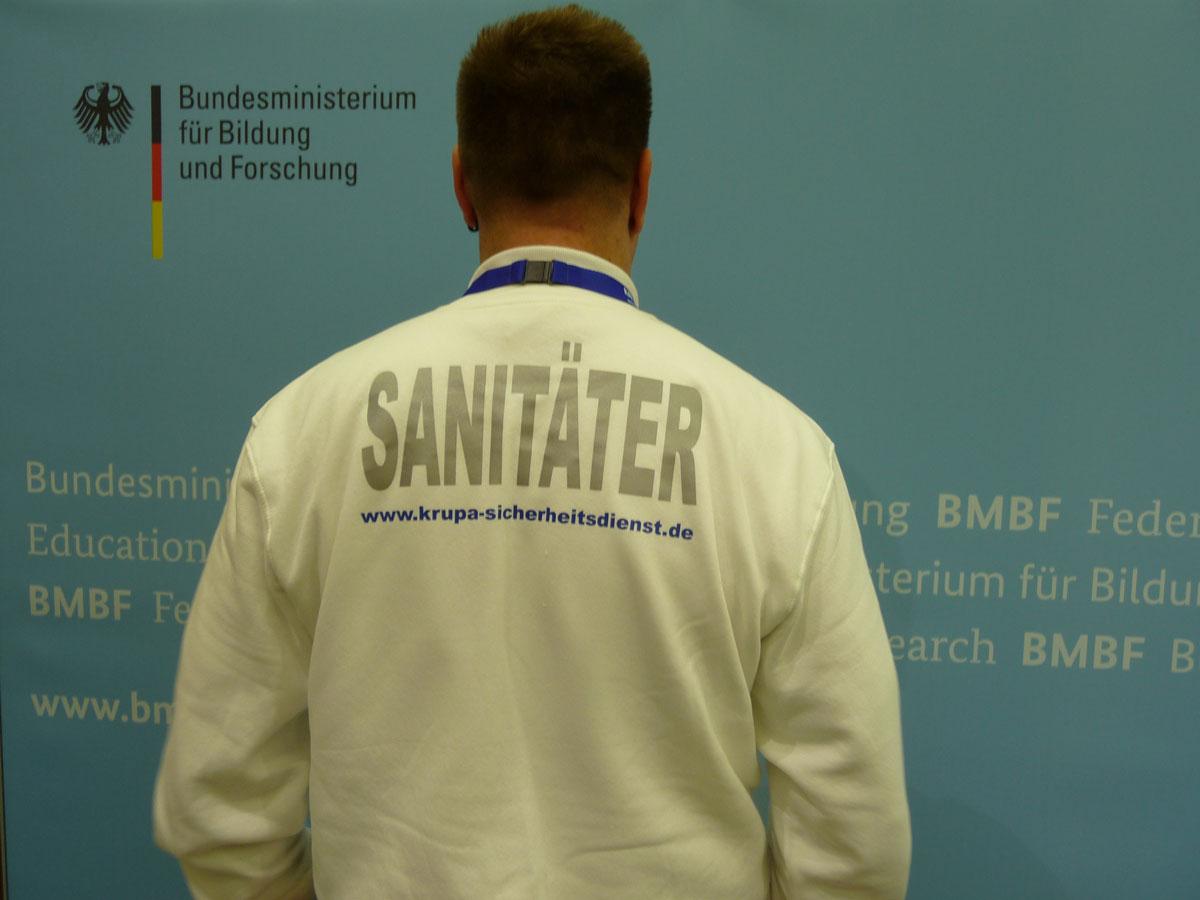 Sanitätsdienst aus Berlin bei der Arbeit